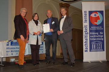 Museumsleiterin Sabine Hacke und Dieter Tornow bei der Auszeichnungsveranstaltung in Frankfurt, Foto: Franziska Lutz/ DUK