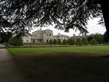 Shugborough Hall, the rear facade showing the terraced gardens.