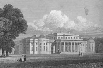 Shugborough Hall in England from Jones' ''Views of the Seats of Noblemen and Gentlemen'' (1829).
