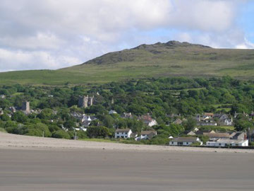 Mynydd Carningli from the beach at Newport.