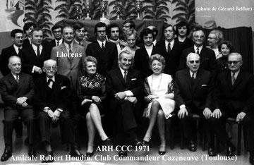 Photo de l'Amicale en 1971 (collection  Gérard Belfiore). Cliquez sur la photo pour voir les noms.