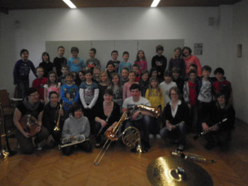 Musikverein in der Schule