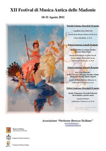 XII FESTIVAL DI MUSICA ANTICA delle Madonie-Agosto 2011-Orchestra Barocca Siciliana
