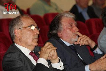 Il Presidente della Corte d'Appello di Caltanissetta, S.E. Salvatore Cardinale ed il Procuratore Generale, S.E. Roberto Scarpinato