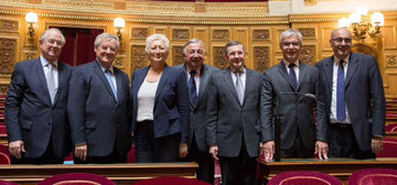les sénateurs normands dans l'hémicycle, 09.10.2014 : J.Bizet, JC. Lenoir, C. Morin-Desailly, G. Larcher, P.Bas, H. Maurey, JL. Dupont,