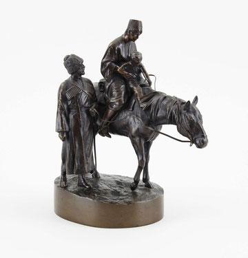 Bronzeskulptur 'Reitstunde', Auktions-Erlös 5200€, Bronzefiguren - Ankauf