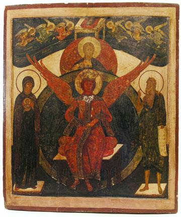 Russische Ikone ' Göttliche Weisheit' 17.-18.Jhd, Auktionserlös 17.000 €
