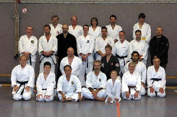 Teilnehmer des Seminars mit Nagamine Soke