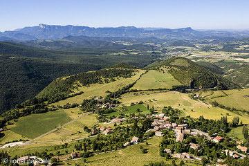 vue de la Croix du Vellan : village de Plan de Baix