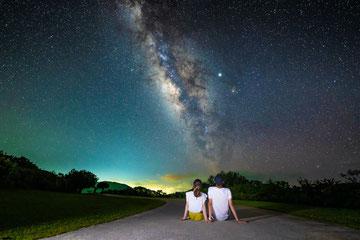 石垣島の綺麗な星空の写真