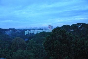 Morgendämmerung über Singapur