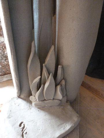 Détail base de vase grès cru - Sylvie Ruiz Foucher -