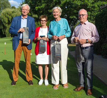 Theo Strauven, Betty Van Oevelen, Kati Destrijcker en Luc Van Loon (vlnr)