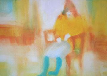 黄色のカーディガン(B2サイズ)