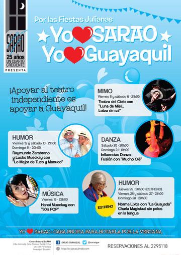 Afiche de YO ♥ SARAO, YO ♥ GUAYAQUIL. Diseño: Eduardo Correa