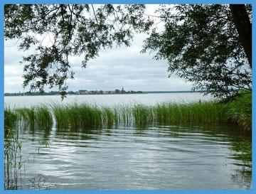 Blick von Altwarp nach Neuwarp (Polen)