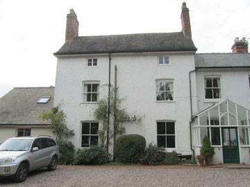 Stirchley Rectory - the central 2-bay 3-storey 18th-century block.