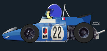 Jean Pierre Beltoise by Muneta & Cerracín - Matra MS80 - Ford Cosworth DFV