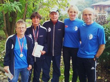 Franziska Gruber, Ilse Haider, Willi Blum und Huberna