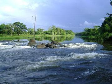 Los rápidos del río Carsawene