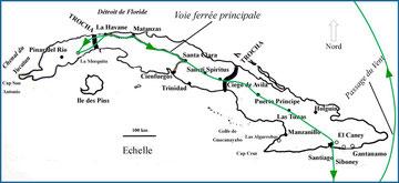 Gabriela's itinerary, Cuba, 1898