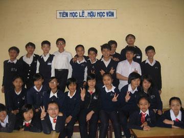 Les élèves de la classe de 7A1 à Dalat