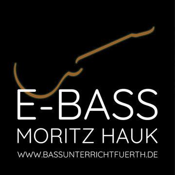 Logo, Moritz Hauk, Bass Unterricht Fürth Nürnberg Erlangen, E-Bass lernen, Bassunterricht, der Lehrer, Bass Anfänger Fortgeschritten, Basslehrer, Workshops, Instrumentalunterricht, Tontechnik, Musikproduktion Komposition, Musikphysiologie,
