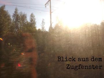 Blick aus dem Zugfenster