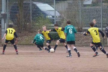 Unentschieden wäre verdient gewesen: C-Jgd gegen Adler C2 (Foto: mal).
