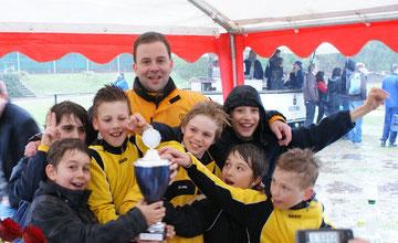Platz 2 für die E1 beim Super4 Westfalencup in Bochum-Stiepel (Foto: tk).