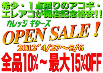 カレッジギターズ オープンセール!最大15%OFF!