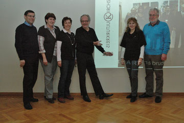 Johann Dill, Maria Rollenitz, GGR Elfriede Schneider-Schwab, Karl J. Mayerhofer; Mag. Silvia Schweighofer, Bgm. Paul Horsak