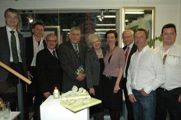 Bern von Hohenstein, Benno Noll, Karl J. Mayerhofer, Bgm. Norbert Tessmer, Jolanta Groffik, Beate Späth, NR. Johann Hell, Bernd Späth und Alois Roch