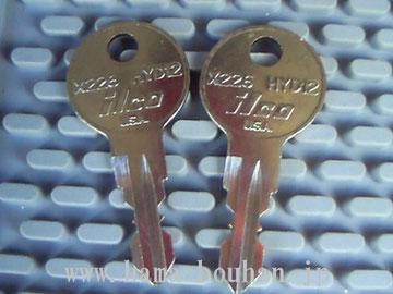 作製したキー
