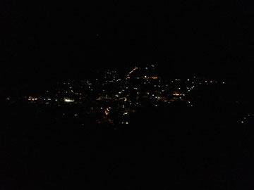 Waaler Weg Meraner Höhenweg Nacht dunkel Lichter Alpen Italien Südtirol E5 Wandern Berge