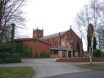 The east end of the church showing the entrance built in 1994