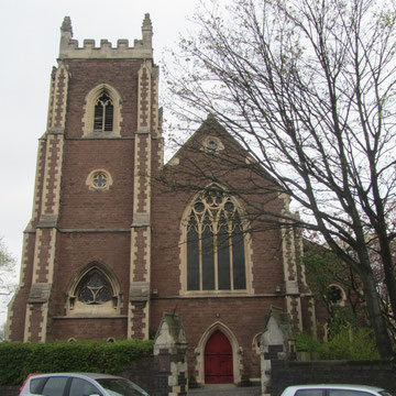 The west end of the church