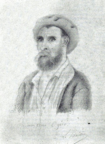 Théodore Ozeré à l'île des Pins, dessin au crayon de son ami Louis Boissier (1874-1879)