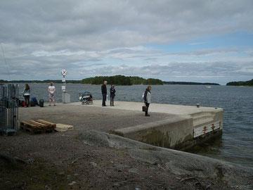 Anlegestelle in Finnhamn