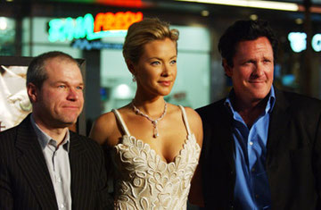 Uwe Boll mit Kristinna Loken und Michael Madsen