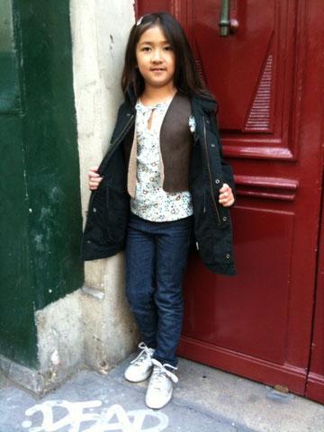 スナップ、子供、パリ、ファッション