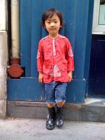 パリ、こども、ファッション、スナップ