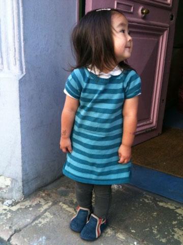 パリ、スナップ、ファッション、子供