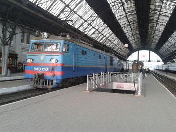 Schlafwagenzug in Lviv (Lemberg)