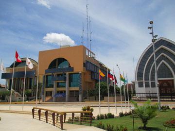 Hauptplatz vom Pucallpa mit Regierungssitz