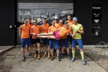Das Dynafit Trailheroes Team beim Start Up in der Zentrale in Salzburg