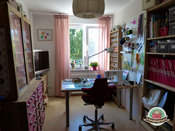 Nähzimmer vorher nachher sewing room before and after