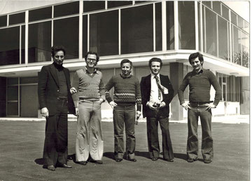 Da sinistra : Guido Aita - Guglielmo Aita - Vincenzo Aita - Mario Aita - Carlo Aita - Foto del 1978