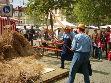 Drescher beim Marktplatzfest in Erlangen