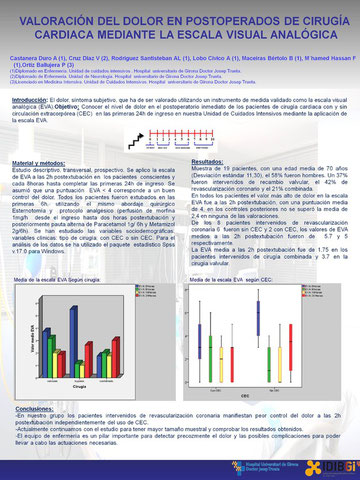 Póster presentado, XXXVII Congreso Nacional de la SEEIUC, Bilbao 2011